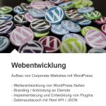 Aufbau von Corporate-Websites mit WordPress.