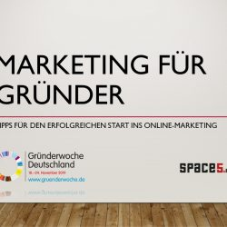 webinar marketing für gründer f2 digital services und space5media / gründerwoche 2019