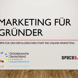 webinar marketing für gründer f2 digital services und space5media / gründerwoche 2019